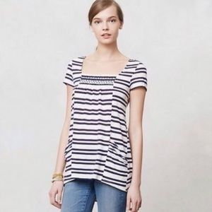 Anthropologie Meadow Rue Marin Stripe Tunic Top